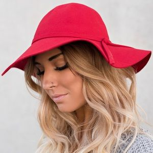 NWT pink wool floppy hat